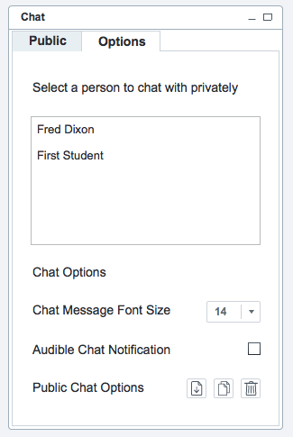 BigBlueButton 2.0 chat-options