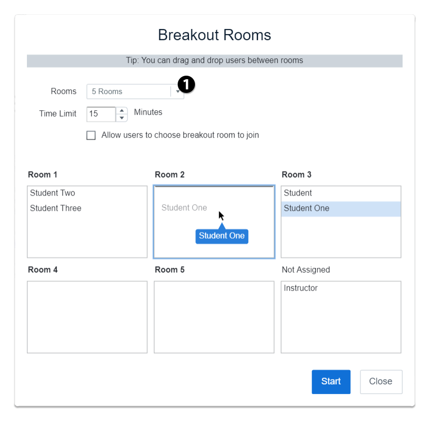 manage breakout roooms