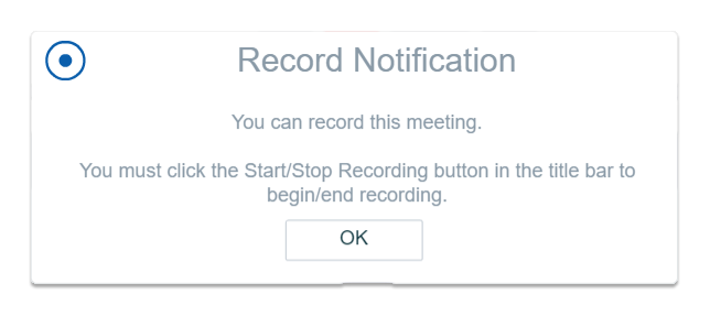ability to record alert