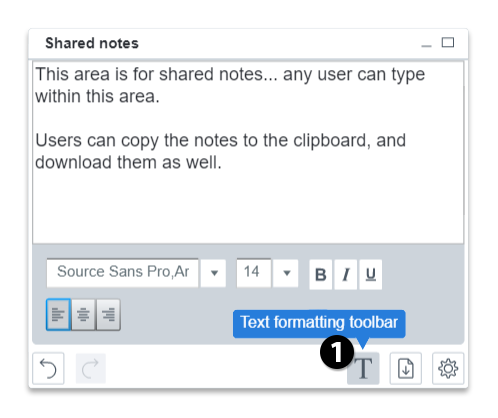 format shared notes