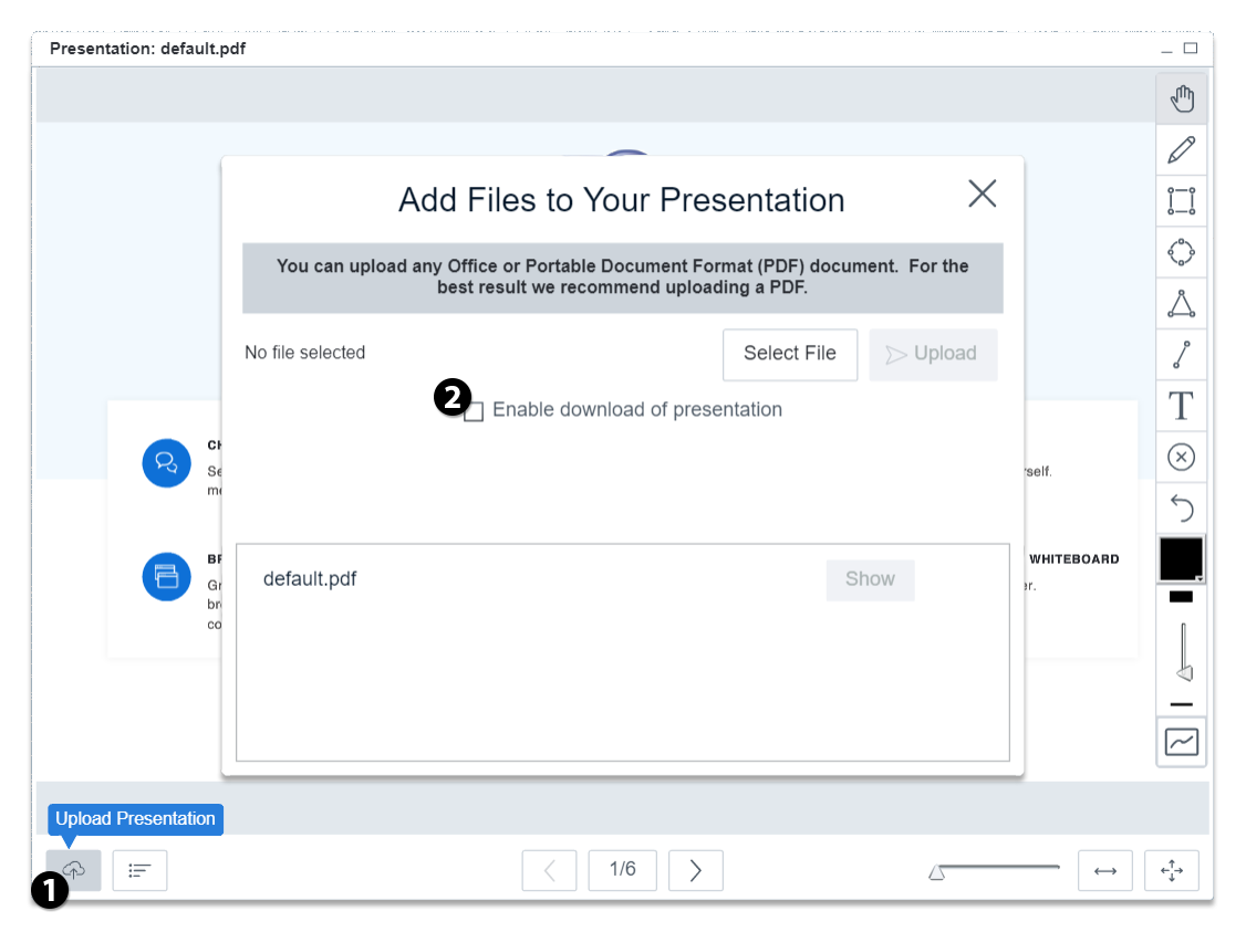 enable presentation download