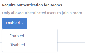 Greenlight Administrator Room Authentication