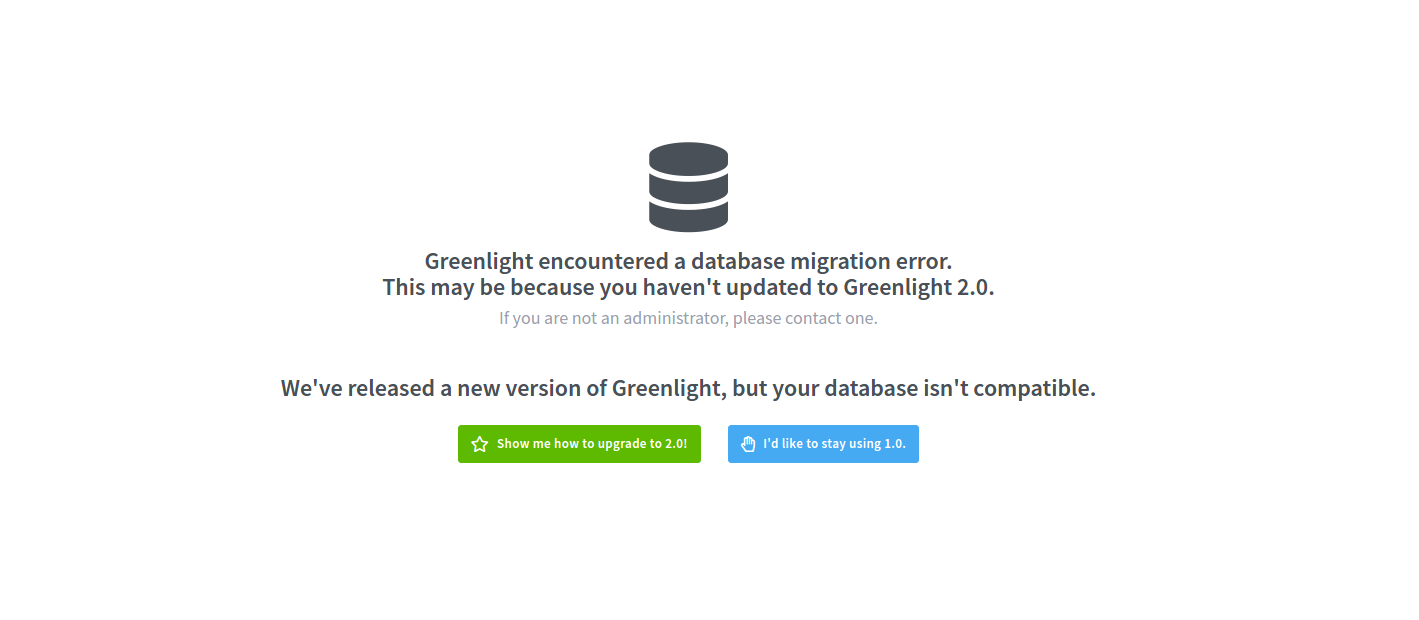 Greenlight Migration Error